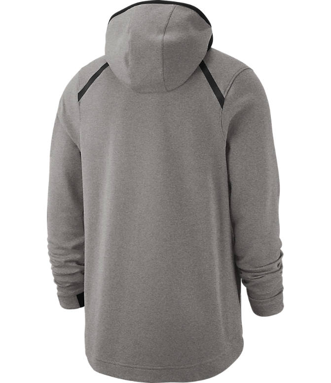Product 3 view of Men's Nike Los Angeles Lakers NBA Dri-FIT Showtime Full-Zip Hoodie in Grey Heather