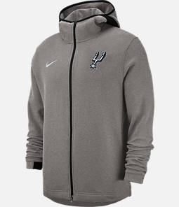 Men's Nike San Antonio Spurs NBA Dri-FIT Showtime Full-Zip Hoodie