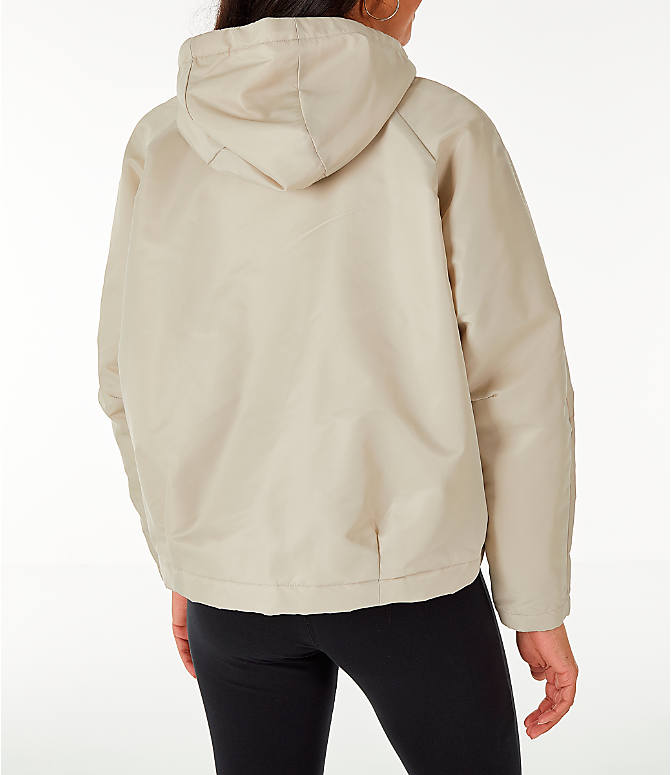 Back Right view of Women's Nike Sportswear Reversible Sherpa Full-Zip Jacket in Phantom White