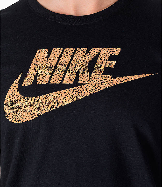 Detail 1 view of Men's Nike Sportswear Futura T-Shirt in Black/Gold