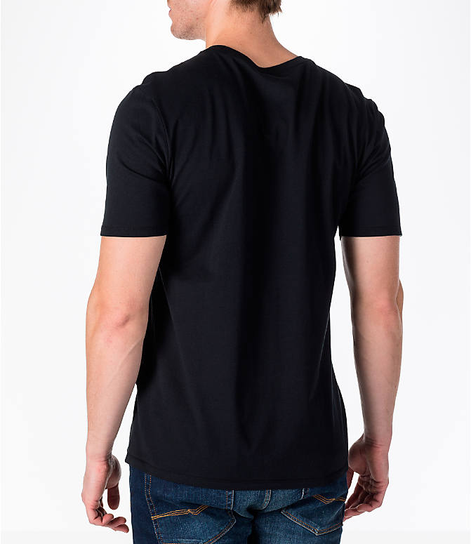 Back Left view of Men's Nike Sportswear Futura T-Shirt in Black/Gold