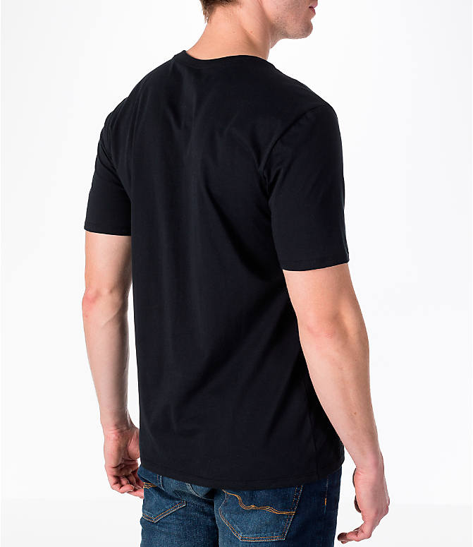 Back Right view of Men's Nike Sportswear Futura T-Shirt in Black/Gold