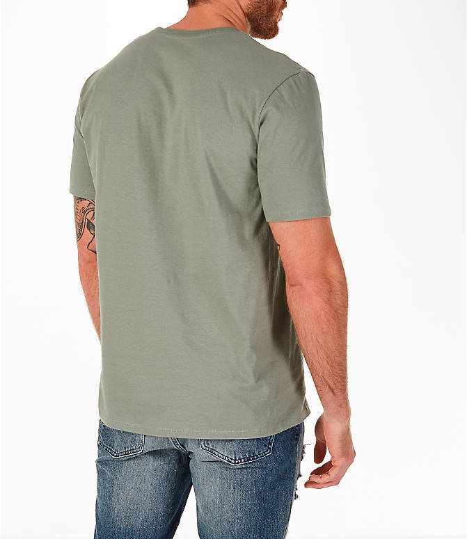 Back Right view of Men's Nike Sportswear HBR T-Shirt in Dark Stucco/Cargo Khaki
