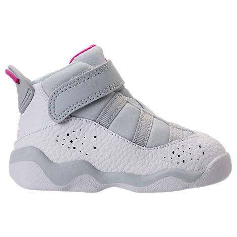 86031304132c Shop Nike Girls  Toddler Jordan 6 Rings Basketball Shoes