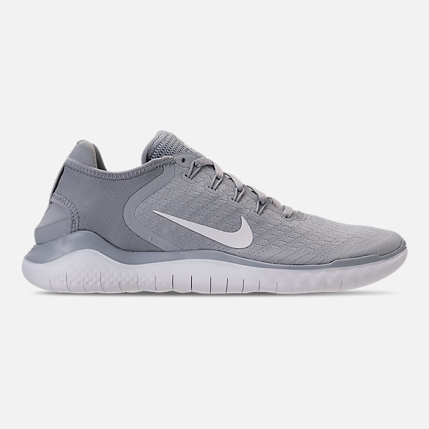 Right view of Mens Nike Free RN 2018 Running Shoes in Wolf GreyWhite
