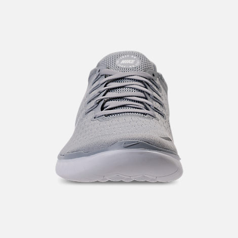 online store 3c0eb 0f392 Front view of Mens Nike Free RN 2018 Running Shoes in Wolf GreyWhite