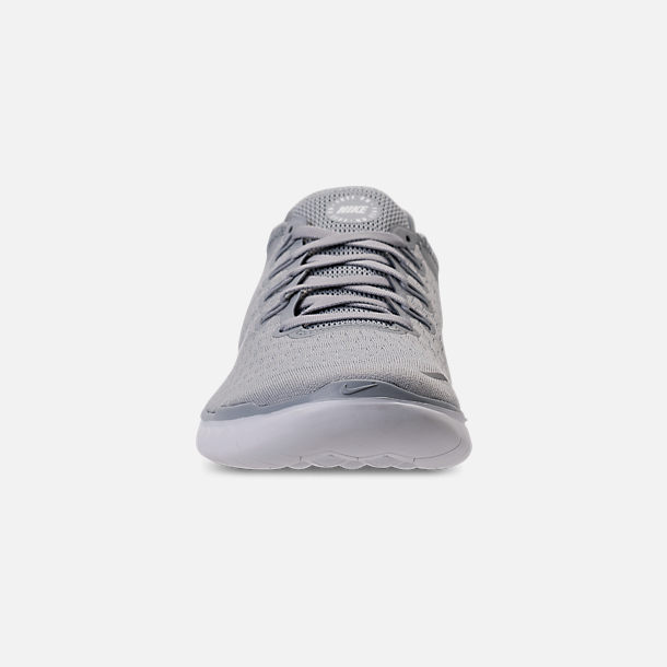9c9a4d163ff5 Front view of Men s Nike Free RN 2018 Running Shoes in Wolf Grey White