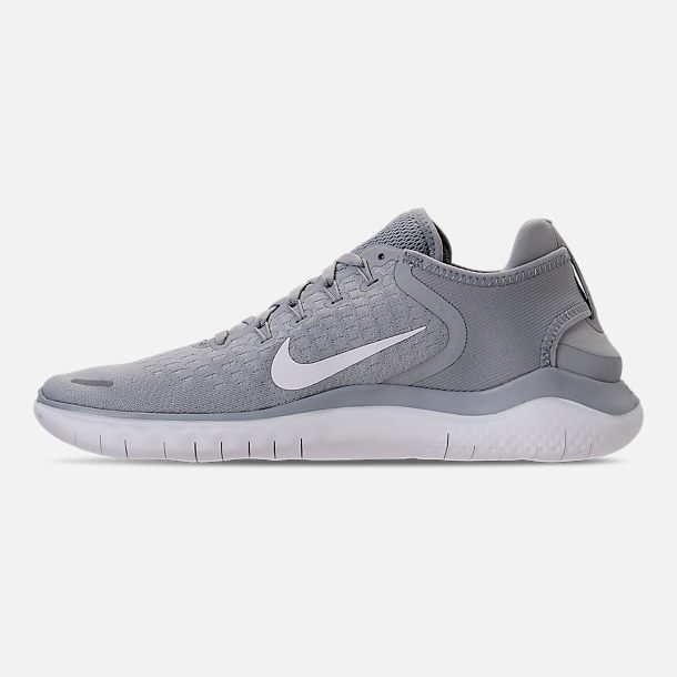 5269fb3e1167 Left view of Men s Nike Free RN 2018 Running Shoes in Wolf Grey White