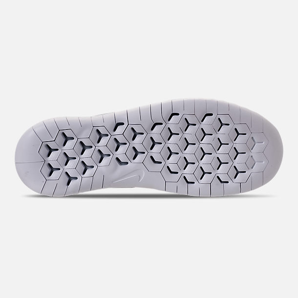 3820a5a8a287 Bottom view of Men s Nike Free RN 2018 Running Shoes in Wolf Grey White