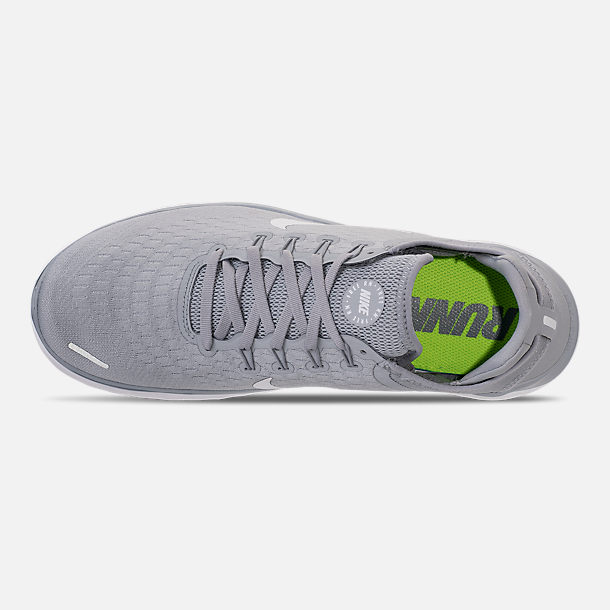 d0ba616e1c8e8 Top view of Men s Nike Free RN 2018 Running Shoes in Wolf Grey White