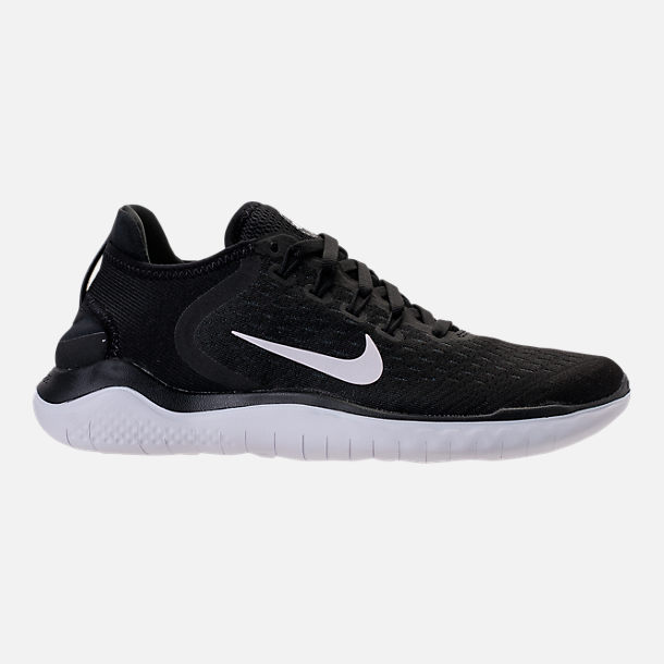 super popular 0c82c aac7f Right view of Women's Nike Free RN 2018 Running Shoes in Black/White