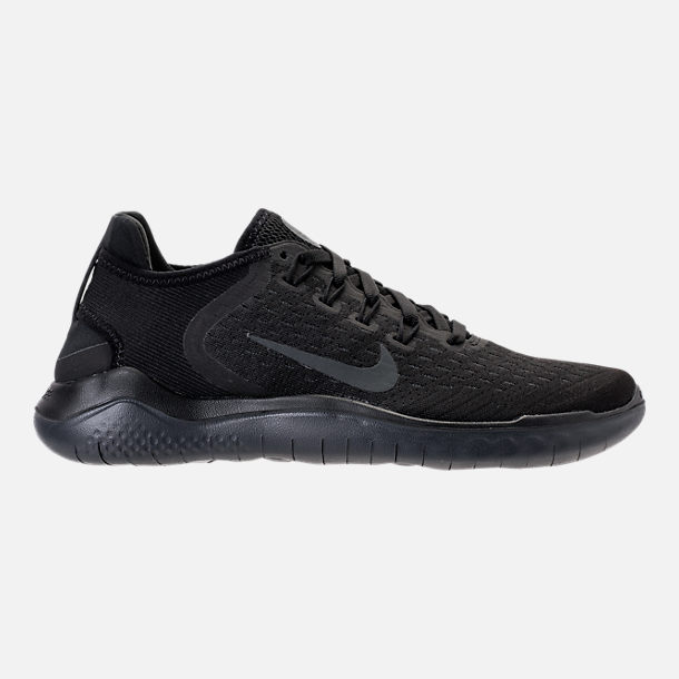 Right view of Women's Nike Free RN 2018 Running Shoes in Black/Anthracite