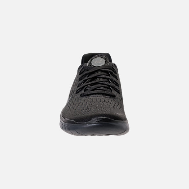 Front view of Women's Nike Free RN 2018 Running Shoes in Black/Anthracite