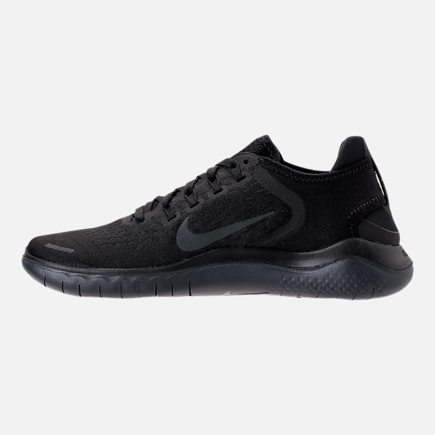 Left view of Women's Nike Free RN 2018 Running Shoes in Black/Anthracite