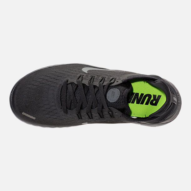 Top view of Women's Nike Free RN 2018 Running Shoes in Black/Anthracite