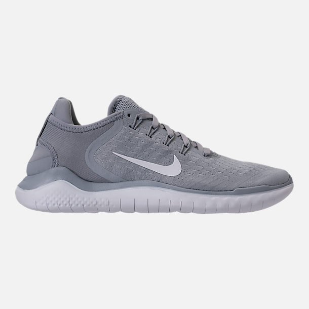 Right view of Womens Nike Free RN 2018 Running Shoes in Wolf GreyWhite