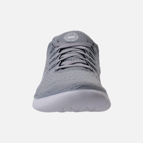 Front view of Women s Nike Free RN 2018 Running Shoes in Wolf Grey White  5df6eac300