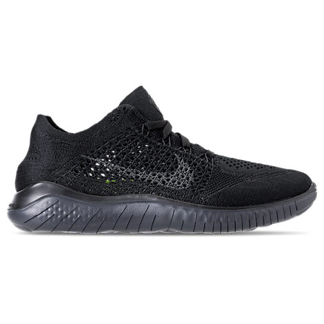 Women'S Free Rn Flyknit 2018 Running Shoes, Black, Black/ Anthracite