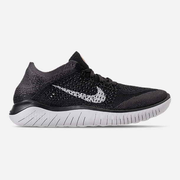 1e822170a75c Right view of Women s Nike Free RN Flyknit 2018 Running Shoes in Black Vast  Grey