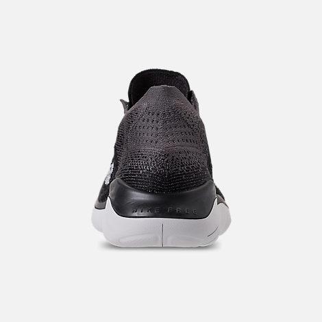 4edbea6ce1564 Back view of Women s Nike Free RN Flyknit 2018 Running Shoes in Black Vast  Grey