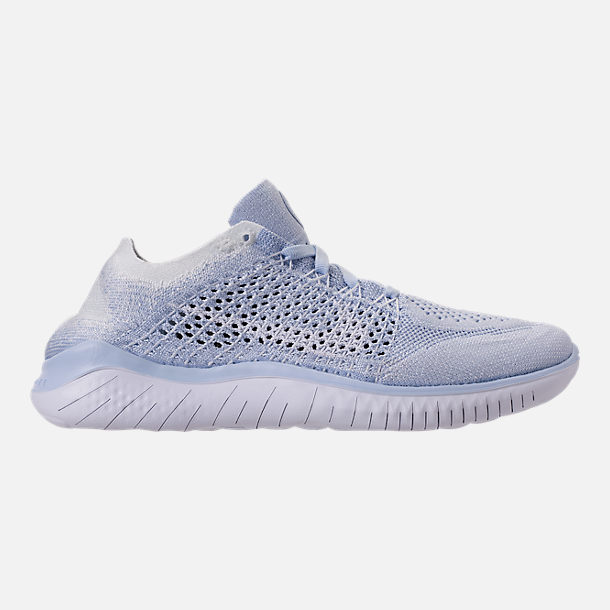 84b5847b121 Right view of Women s Nike Free RN Flyknit 2018 Running Shoes in Hydrogen  Blue Blue