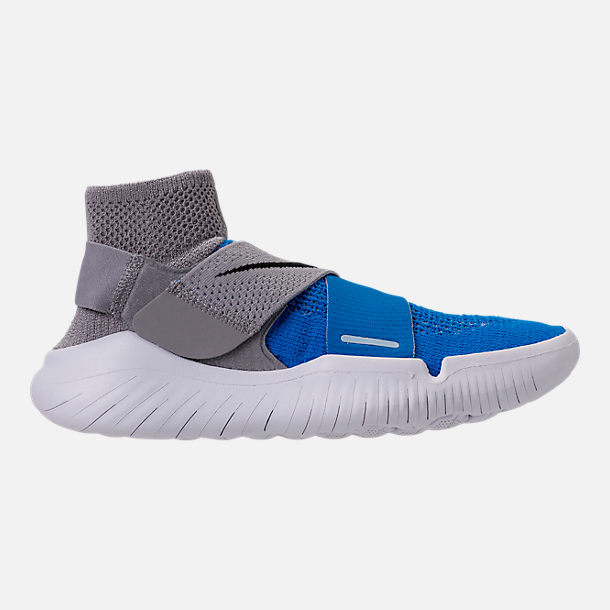 Right view of Men's Nike Free RN Motion Flyknit 2018 Running Shoes in Photo Blue/
