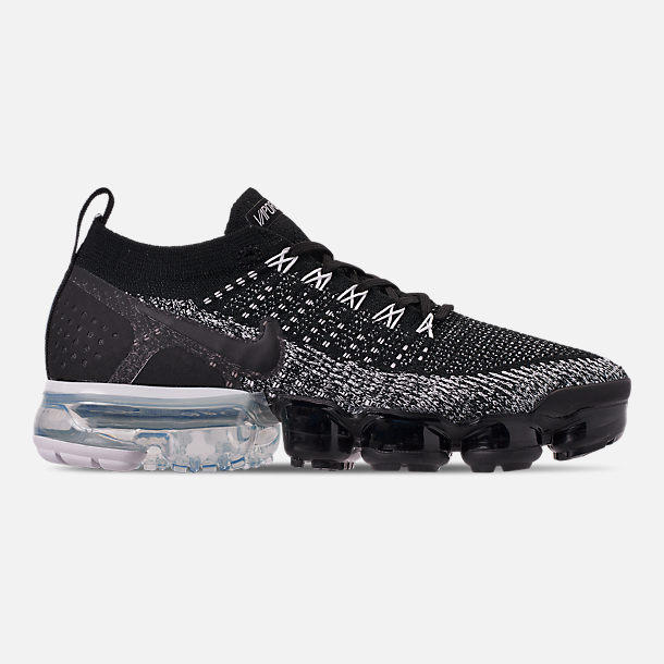 0e3369320e Right view of Men's Nike Air VaporMax Flyknit 2 Running Shoes in  Black/Black/