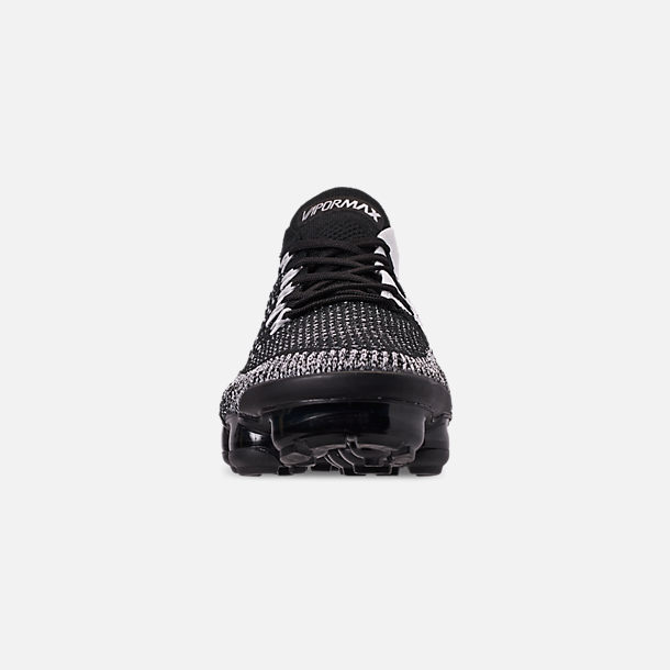 7ce729cc1c4f Front view of Men s Nike Air VaporMax Flyknit 2 Running Shoes in  Black Black