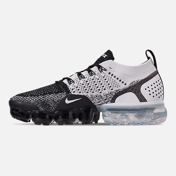 d259030a8fa Left view of Men s Nike Air VaporMax Flyknit 2 Running Shoes in Black Black
