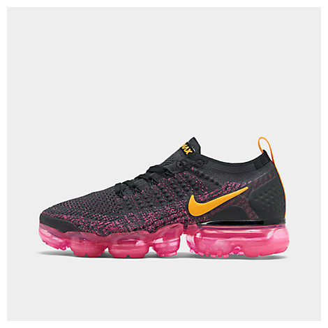 Women'S Air Vapormax Flyknit 2 Running Shoes, Black, Gridiron/ Orange/ Pink/ Black