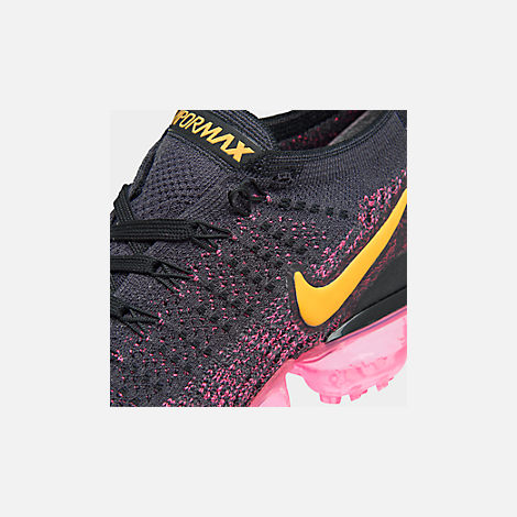 Front view of Women s Nike Air VaporMax Flyknit 2 Running Shoes in Gridiron Laser  Orange b511ee67f