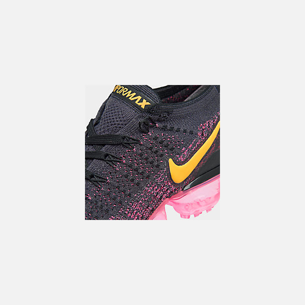 fc70129cf14f Front view of Women s Nike Air VaporMax Flyknit 2 Running Shoes in Gridiron Laser  Orange