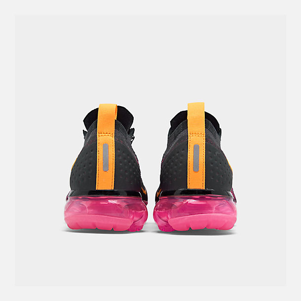 Left view of Women s Nike Air VaporMax Flyknit 2 Running Shoes in Gridiron Laser  Orange 7526c17e3
