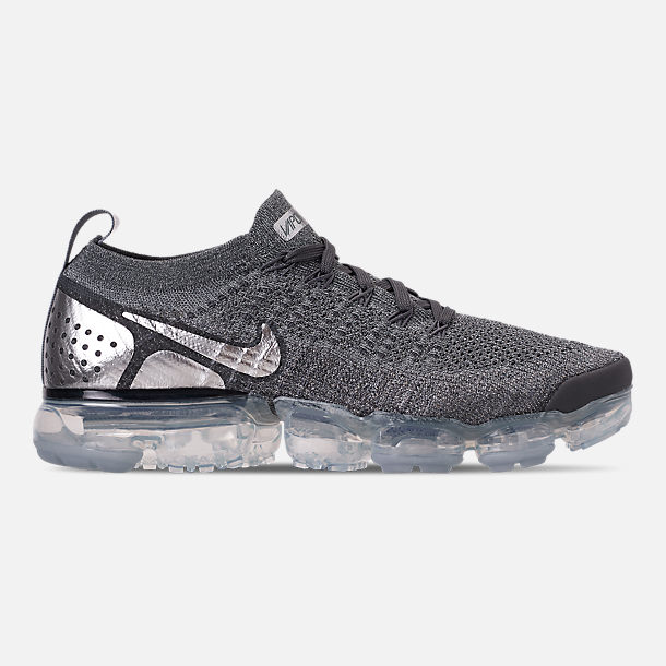 Right view of Women's Nike Air VaporMax Flyknit 2 Running Shoes in Atmosphere Grey/Multicolor/Gunsmoke