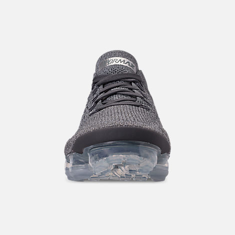 Front view of Women's Nike Air VaporMax Flyknit 2 Running Shoes in Atmosphere Grey/Multicolor/Gunsmoke