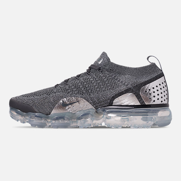 Left view of Women's Nike Air VaporMax Flyknit 2 Running Shoes in Atmosphere Grey/Multicolor/Gunsmoke