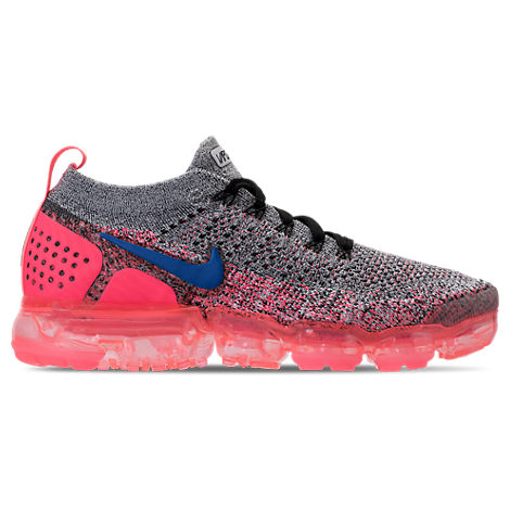 WOMEN'S AIR VAPORMAX FLYKNIT 2 RUNNING SHOES, PINK/GREY