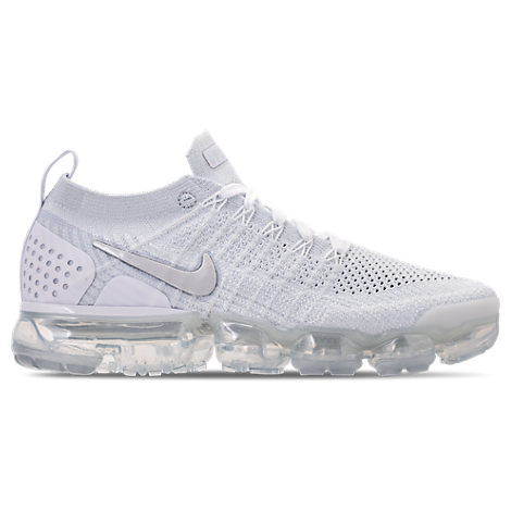 WOMEN'S AIR VAPORMAX FLYKNIT 2 RUNNING SHOES, WHITE