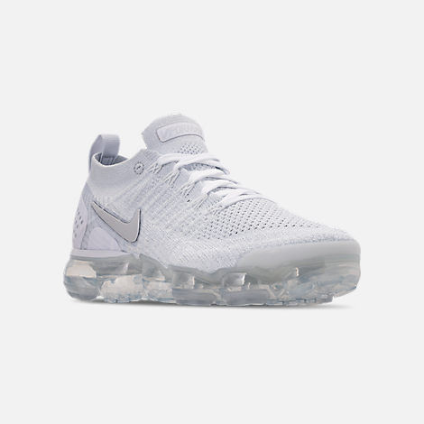 a97d0f5b3480 Three Quarter view of Women s Nike Air VaporMax Flyknit 2 Running Shoes in  White White
