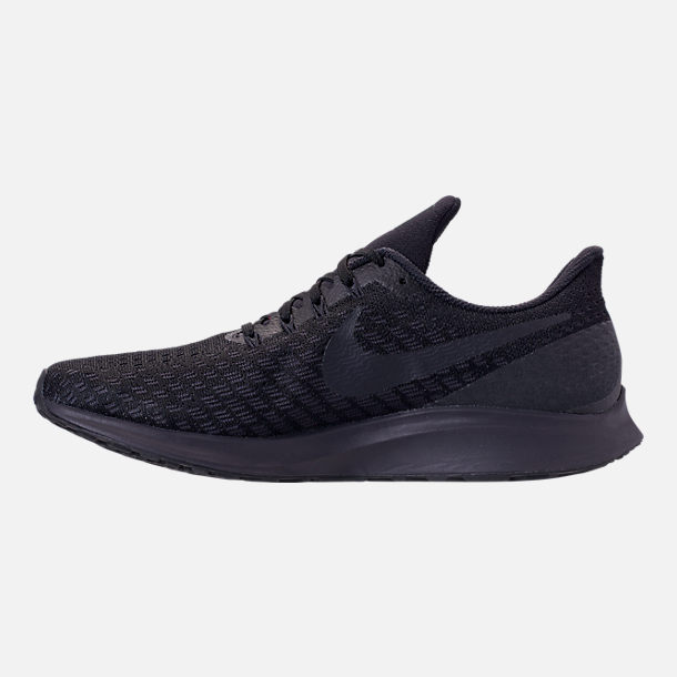 70d2dbef4cbbb Left view of Men s Nike Air Zoom Pegasus 35 Running Shoes in Black Oil Grey