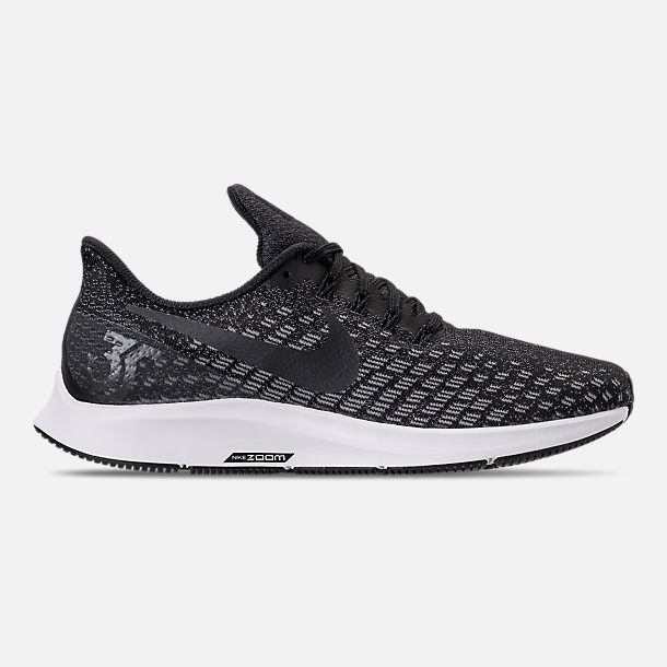 Right view of Men's Nike Air Zoom Pegasus 35 Running Shoes in Black/Oil Grey/Gunsmoke