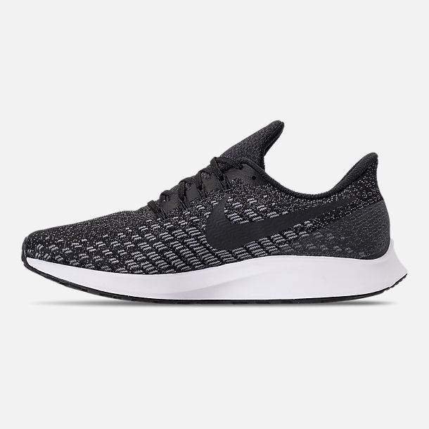 Left view of Men's Nike Air Zoom Pegasus 35 Running Shoes in Black/Oil Grey/Gunsmoke