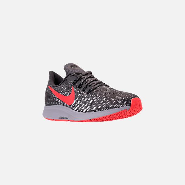 3fc1738dec62 Three Quarter view of Men s Nike Air Zoom Pegasus 35 Running Shoes in  Thunder Grey