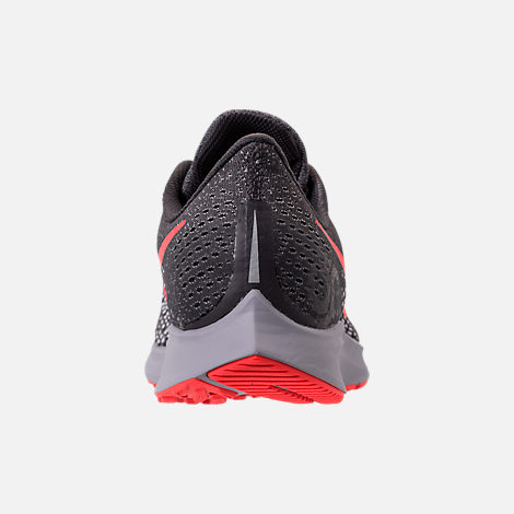 Back view of Men's Nike Air Zoom Pegasus 35 Running Shoes in Thunder Grey/Bright Crimson/Phantom