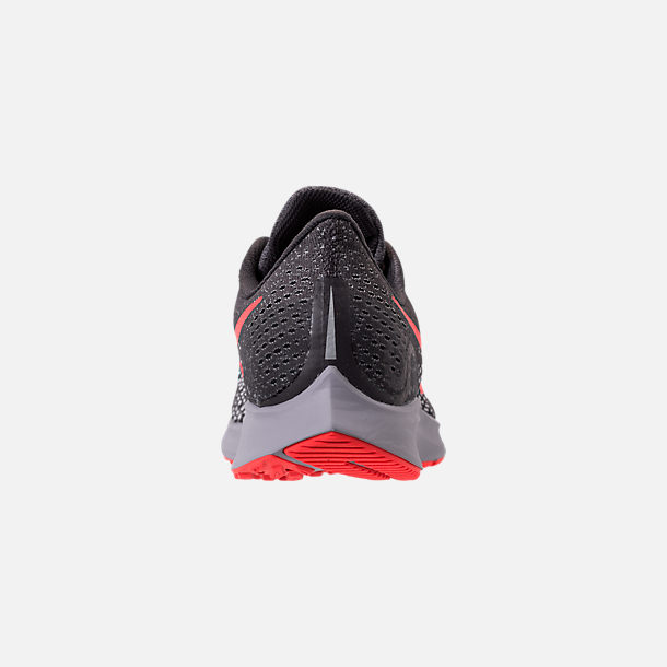 8740eb126384 Back view of Men s Nike Air Zoom Pegasus 35 Running Shoes in Thunder Grey  Bright