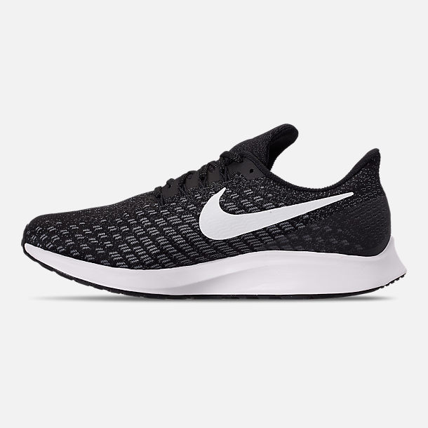 Left view of Women's Nike Air Zoom Pegasus 35 Running Shoes in Black/White/Gunsmoke/Oil Grey