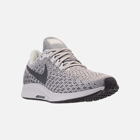 Three Quarter view of Women's Nike Air Zoom Pegasus 35 Running Shoes in Phantom/Gunsmoke/Summit White