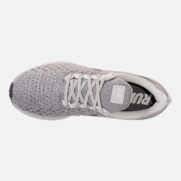 Top view of Women's Nike Air Zoom Pegasus 35 Running Shoes in Phantom/Gunsmoke/Summit White