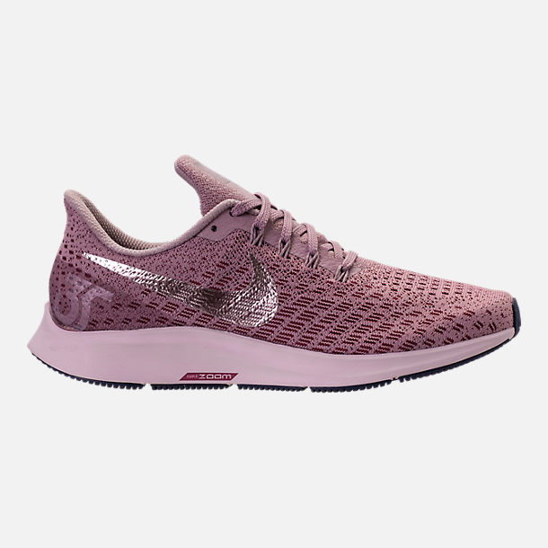 Right view of Women's Nike Air Zoom Pegasus 35 Running Shoes in Elemental Rose/Barely Rose/Vintage