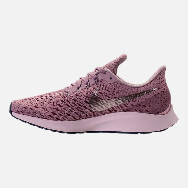 Left view of Women's Nike Air Zoom Pegasus 35 Running Shoes in Elemental Rose/Barely Rose/Vintage